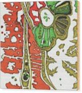 Nightmare In The Garden Wood Print