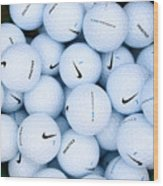 Nike Golf Balls Wood Print