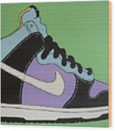 Nike Shoe Wood Print by Grant  Swinney