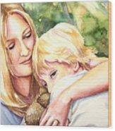 Nikki And Xander Wood Print