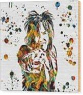 Nikki Sixx Paint Splatter Wood Print