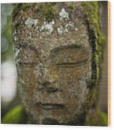 Nikko Stone Carved Face 2 Wood Print