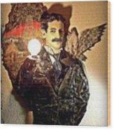 Nikola Tesla At Wardenclyffe Wood Print