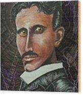 Nikola Tesla Wood Print