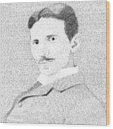 Nikola Tesla In His Own Words Wood Print
