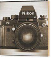 Nikon F3 Hp Wood Print