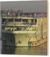 Nile Cruise Ship Wood Print