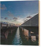 Niles Summer Sunset Wood Print
