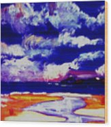 Nimbus Clouds Over Mumbles Wood Print