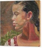 Nina de Trenza Wood Print