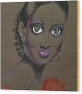 Nina Mae -- African-american Actress Portrait Wood Print