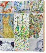 Nine Animals - Version 1 Wood Print