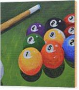 Nine Ball Wood Print