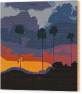 Nine Palms Wood Print