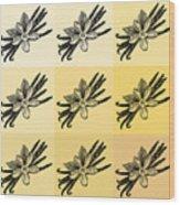Nine Shades Of Vanilla Wood Print