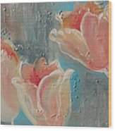 Nine Tulips Wood Print