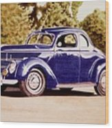 Nineteen Thirty Eight Ford Coupe Wood Print