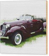 Nineteen Thirty-seven Auburn Speedster Wood Print