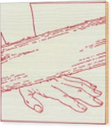 Ninth Station- Jesus Falls The Third Time Wood Print