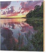 The Nip Sunset Wood Print