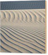 Nipomo Dunes Wood Print by Ron Hoggard