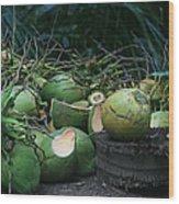 Niu Hawaiian Coconuts Hooululahui Kahekilinui Wailuku Wood Print