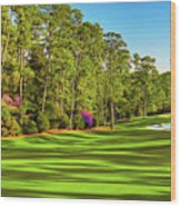 No. 10 Camellia 495 Yards Par 4 Wood Print