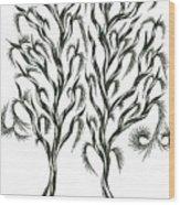No 10 Wood Print