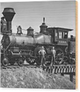 No. 120 Early Railroad Locomotive Wood Print