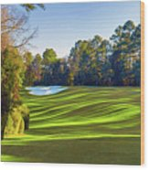 No. 5 Magnolia 455 Yards  Par 4 Wood Print