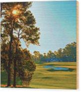 No. 9 Carolina Cherry 460 Yards Par 4 Wood Print
