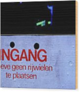 No Bicycle Parking Wood Print