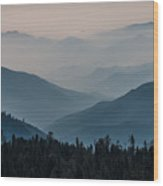 Misty Blue Shades Of Generals Highway 2 Wood Print