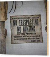No Trespassing Wood Print