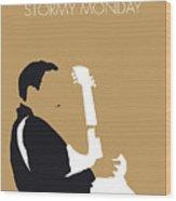No070 My Tbone Walker Minimal Music Poster Wood Print