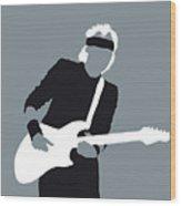 No107 My Mark Knopfler Minimal Music Poster Wood Print