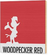 No12 My Minimal Color Code Poster Woody Woodpecker Wood Print