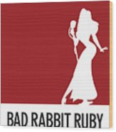 No14 My Minimal Color Code Poster Jessica Rabbit Wood Print