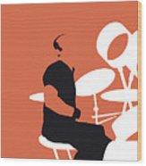 No163 My Phil Collins Minimal Music Poster Wood Print