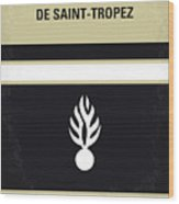 No186 My Le Gendarme De Saint-tropez Minimal Movie Poster Wood Print