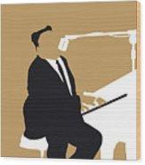 No190 My Fats Domino Minimal Music Poster Wood Print