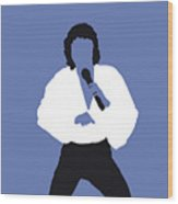 No198 My Barry Manilow Minimal Music Poster Wood Print
