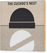 No454 My One Flew Over The Cuckoos Nest Minimal Movie Poster Wood Print