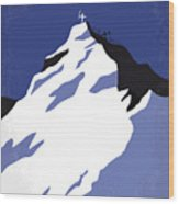 No492 My Everest Minimal Movie Poster Wood Print