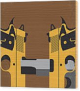 No576 My Face Off Minimal Movie Poster Wood Print