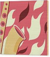 No657 My St Elmos Fire Minimal Movie Poster Wood Print