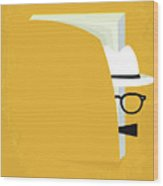 No671 My Capote Minimal Movie Poster Wood Print
