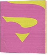 No720 My Supergirl Minimal Movie Poster Wood Print