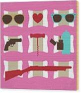No736 My True Romance Minimal Movie Poster Wood Print