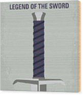 No751 My King Arthur Legend Of The Sword Minimal Movie Poster Wood Print